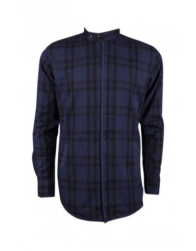 Casual Navy Slim Fit Shirt