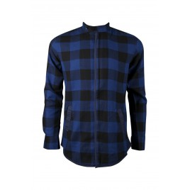 Casual Blue Contrast Chain Shirt