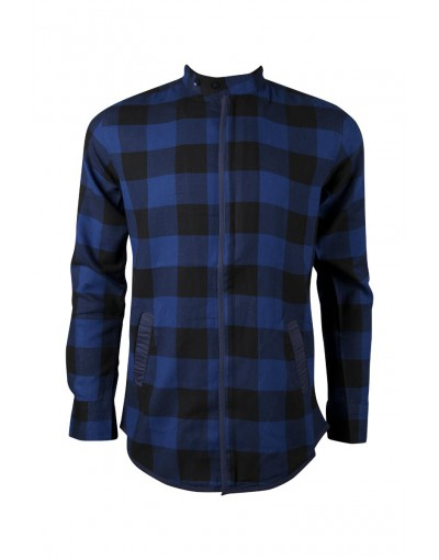 Casual Blue Contrast Chain Shirt