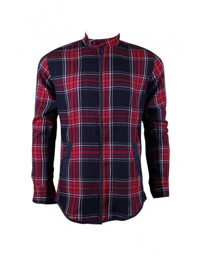 Casual Red Mixed Men's Shirt