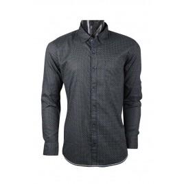 Casual Printed Black Shirt