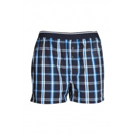 Gents Black and Navy check Boxer