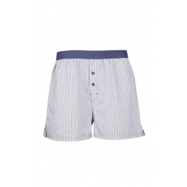 Gents Navy Striped Boxer