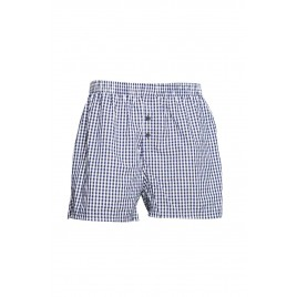 Navy and White small Check Boxer