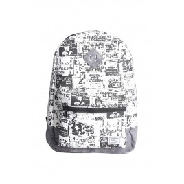 Black and White Printed Backpack