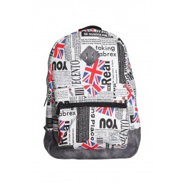 Black and Red Printed Backpack
