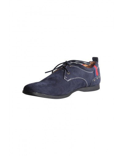 Navy High Neck Casual Shoe