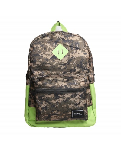Fashionable Camouflage Light Green Backpack