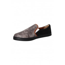 Men's Special Ash Black Leather Slip-On