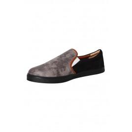 Men's Special Ash Black Leather Slip-On
